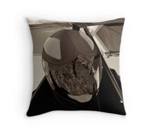 Waiting for Launch Throw Pillow