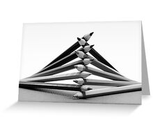 Pencil Fingers Greeting Card