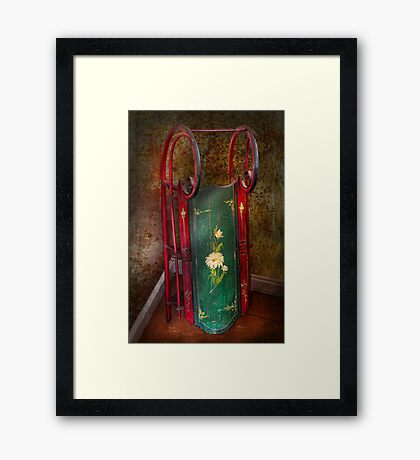 Toy - Sled - Fun memories with my sled  Framed Print