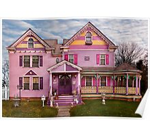 House - Victorian - I love bright colors Poster
