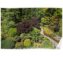 Aerial View, Butchart Gardens Poster
