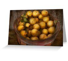 Food - Apples - Golden apples Greeting Card