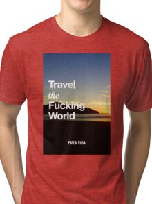 Pura Vida - Travel the world Tri-blend T-Shirt