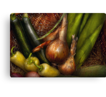 Food - Vegetables - Greens and Onions  Canvas Print