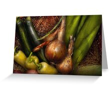 Food - Vegetables - Greens and Onions  Greeting Card