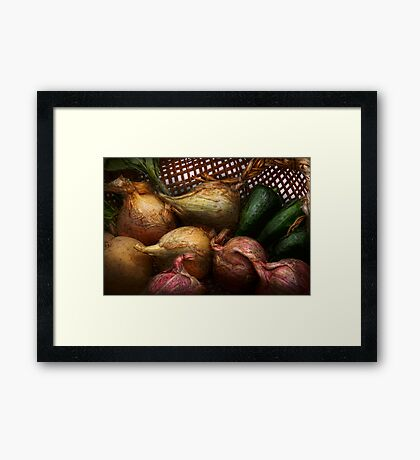 Food - Vegetables - Onions and Peppers Framed Print