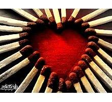 Heart Matches Photographic Print