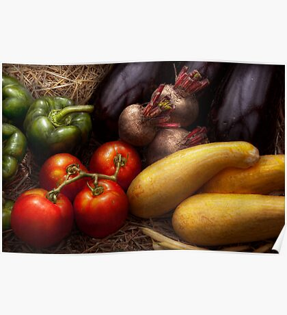 Food - Vegetables - Peppers, Tomatoes, Squash and some Turnips Poster