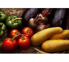 Food - Vegetables - Peppers, Tomatoes, Squash and some Turnips Photographic Print