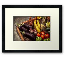 Food - Vegetables - From mother's garden Framed Print