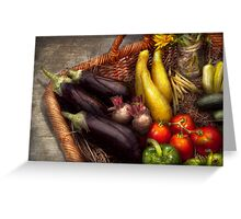 Food - Vegetables - From mother's garden Greeting Card