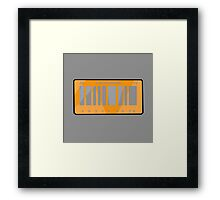 NOW IS THE FUTURE - California Plate 2015 Framed Print