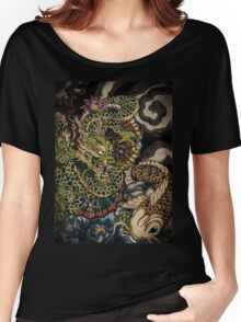 Japanese dragon and koi fish  Women's Relaxed Fit T-Shirt