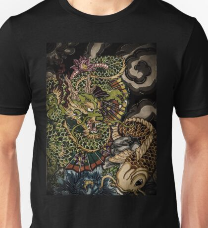 Japanese dragon and koi fish  Unisex T-Shirt