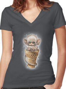 SOFT SERVE Women's Fitted V-Neck T-Shirt