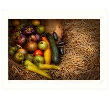 Food - Vegetables - Very early harvest Art Print