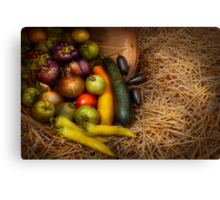 Food - Vegetables - Very early harvest Canvas Print