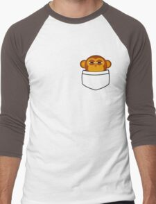 Pocket monkey is highly suspicious Men's Baseball ¾ T-Shirt