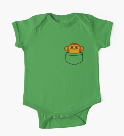 Pocket monkey is highly suspicious One Piece - Short Sleeve