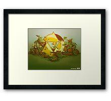 Keep Hyrule Green (modern) Framed Print