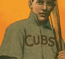 Benjamin K Edwards Collection Wildfire Schulte Chicago Cubs baseball card portrait 001 Sticker