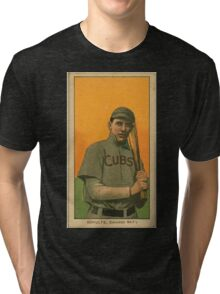 Benjamin K Edwards Collection Wildfire Schulte Chicago Cubs baseball card portrait 001 Tri-blend T-Shirt