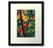 In the tropic mist, watercolor Framed Print