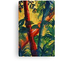 In the tropic mist, watercolor Canvas Print