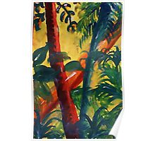 In the tropic mist, watercolor Poster