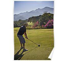 Golfing in Puerto Vallarta, Mexico Poster