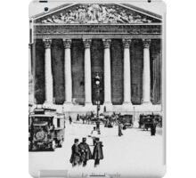 Vintage antique Paris Rue Royale Madeleine church iPad Case/Skin