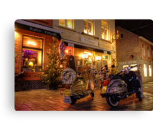 Scooters at the Bistro  Canvas Print
