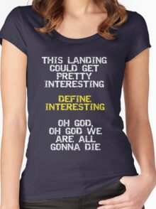 Define Interesting Women's Fitted Scoop T-Shirt