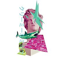 Vaporwave with spikes Photographic Print