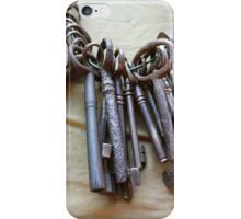 old keys iPhone Case/Skin