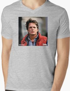 NOW IS THE FUTURE - Marty Mcfly  Mens V-Neck T-Shirt