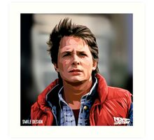 NOW IS THE FUTURE - Marty Mcfly  Art Print