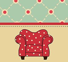 Big Red Chair iPhone & iPod Case by David & Kristine Masterson