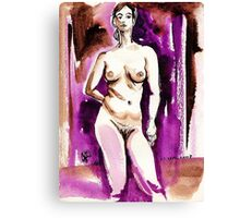 Drawing of Marie-Lise Naked Canvas Print