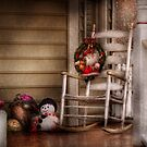 Winter - Metuchen, NJ - Waiting for Santa  by Mike  Savad