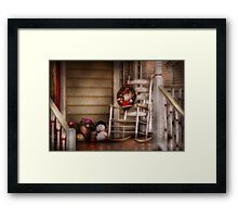 Winter - Metuchen, NJ - Waiting for Santa  Framed Print