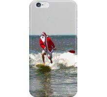 Surfing Santa SUP 1 iPhone Case/Skin