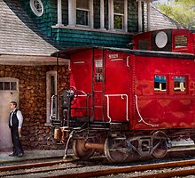 Train - Caboose - End of the line by Mike  Savad