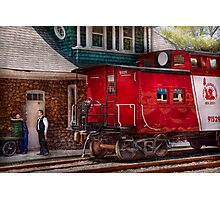Train - Caboose - End of the line Photographic Print