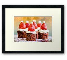 strawberry santas! Framed Print