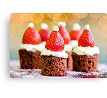 strawberry santas! Canvas Print