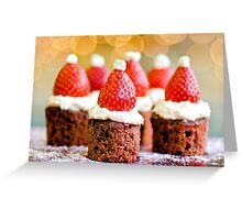 strawberry santas! Greeting Card