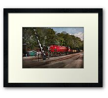 Train - Diesel - Look out for the Locomotive  Framed Print