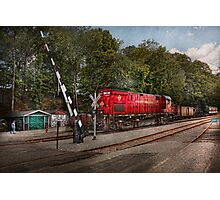 Train - Diesel - Look out for the Locomotive  Photographic Print