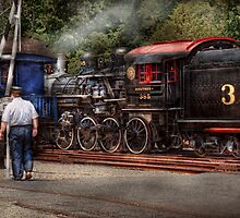 Train - Steam - The conductors job  by Mike  Savad